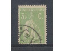 1917 - LOTTO/9666FAU - PORTOGALLO - 3,5c. VERDE - USATO