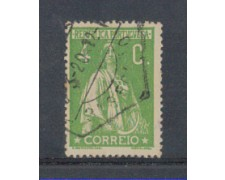 1917 - LOTTO/9666GAU - PORTOGALLO - 4c. VERDE GIALLO - USATO