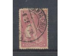 1917 - LOTTO/9666IAU - PORTOGALLO - 6c.ROSA - USATO