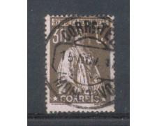 1917 - LOTTO/9666VAU - PORTOGALLO - 30c. BRUNO - USATO