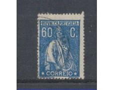 1917 - LOTTO/9666ZZU - PORTOGALLO - 60c. AZZURRO - USATO