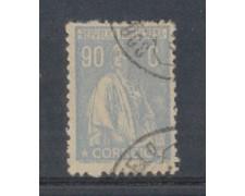 1917 - LOTTO/9666ZZZ - PORTOGALLO - 90c. AZZ.GRIGIO - USATO