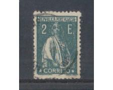 1917 - LOTTO/9667EU - PORTOGALLO - 2e. VERDE - USATO