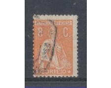 1923 - LOTTO/9669DU - PORTOGALLO - 8c. ARANCIO - USATO
