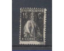 1923 - LOTTO/9669EU - PORTOGALLO - 15c. NERO - USATO