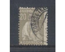 1923 - LOTTO/9669HU - PORTOGALLO - 20c. GRIGIO - USATO