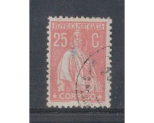 1923 - LOTTO/9669IU - PORTOGALLO - 25c. ROSA - USATO
