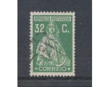 1923 - LOTTO/9669LU - PORTOGALLO - 32c.VERDE - USATO