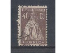 1923 - LOTTO/9669NU - PORTOGALLO - 40c. BRUNO - USATO
