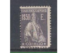 1923 - LOTTO/9669VU - PORTOGALLO - 1,50e. GRIGIO VIOL. - USATO