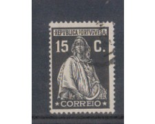 1926 - LOTTO/9679GU - PORTOGALLO - 15c. NERO - USATO