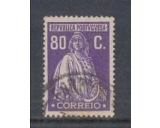 1926 - LOTTO/9679QU - PORTOGALLO - 80c. VIOLETTO - USATO
