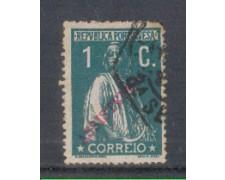 1912 - LOTTO/9663AU - PORTOGALLO - 1c. VERDE - USATO