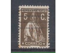 1930 - LOTTO/9687BU - PORTOGALLO - 5c. BRUNO SEPPIA - USATO