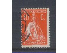 1930 - LOTTO/9687DU - PORTOGALLO - 10c. ROSSO - USATO