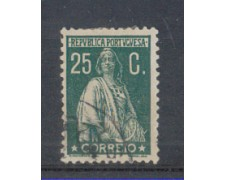1930 - LOTTO/9687EU - PORTOGALLO - 25c. VERDE - USATO