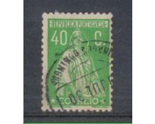 1930 - LOTTO/9687FU - PORTOGALLO - 40c. VERDE - USATO