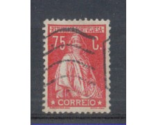 1930 - LOTTO/9687IU - PORTOGALLO - 75c. ROSSO - USATO