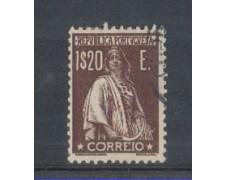 1930 - LOTTO/9687NU - PORTOGALLO - 1,20 BRUNO - USATO