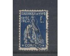 1930 - LOTTO/9687OU - PORTOGALLO - 1,25 AZZURRO SC. - USATO