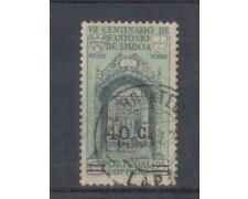 1933 - LOTTO/9692CU - PORTOGALLO -  40c su 25c. S.ANTONIO - USAT