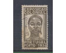1934 - LOTTO/9694AU - PORTOGALLO - 25c. EXPO COLONIALE - USATO