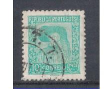 1935 - LOTTO/9696DU - PORTOGALLO - 10c. VERDE - USATO