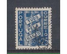 1935 - LOTTO/9696FU - PORTOGALLO - 25c. AZZURRO - USATO