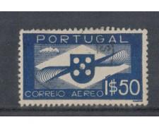 1936 - LOTTO/9697AU - PORTOGALLO - 1,50e. POSTA AEREA - USATO