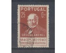 1940 - LOTTO/9704BU - PORTOGALLO - 25c. BRUNO - USATO