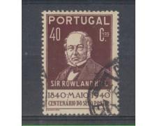 1940 - LOTTO/9704DU - PORTOGALLO - 40c. BRUNO LILLA - USATO