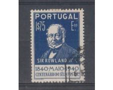 1940 - LOTTO/9704HU - PORTOGALLO - 1,75e. AZZURRO SCURO - USATO