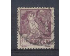 1941 - LOTTO/9708CU - PORTOGALLO - 10c. COSTUMI REGIONALI-  USAT