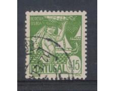1941 - LOTTO/9708DU - PORTOGALLO - 15c. COSTUMI REGIONALI- USATO