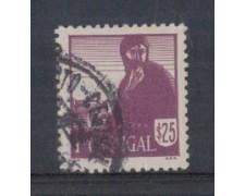 1941 - LOTTO/9708EU - PORTOGALLO - 25c. COSTUMI REGIONALI- USATO