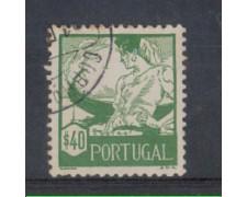 1941 - LOTTO/9708FU - PORTOGALLO - 40c. COSTUMI REGIONALI- USATO