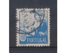 1941 - LOTTO/9708GU - PORTOGALLO - 80c. COSTUMI REGIONALI- USATO