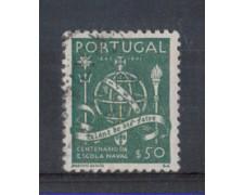 1945 - LOTTO/9719BU - PORTOGALLO - 50c. SCUOLA NAVALE - USATO