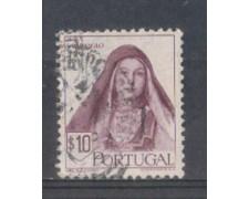 1947 - LOTTO/9723AU - PORTOGALLO - 10c. COSTUME CARAMULO - USATO
