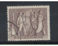 1951 - LOTTO/9738AU - PORTOGALLO - 1e. RIVOLUZIONE - USATO