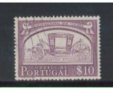 1952 - LOTTO/9739AU - PORTOGALLO - 10c. CARROZZE - USATO