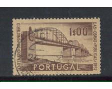 1952 - LOTTO/9743AU - PORTOGALLO - 1e. PONTE CARMONA - USATO