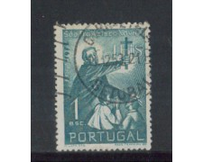 1952 - LOTTO/9744AU - PORTOGALLO - 1e. S.F. SAVERIO - USATO