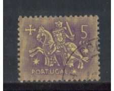 1953 - LOTTO/9745NU - PORTOGALLO - 5e. SIGILLO RE DENIS - USATO
