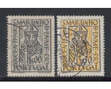 1953 - LOTTO/9746U - PORTOGALLO - S.MARTINO DE DUME 2v. USATI