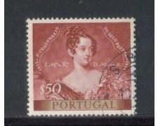 1953 - LOTTO/9750AU - PORTOGALLO - 50c. CENT.FRANCOBOLLO -USATO