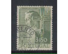 1954 - LOTTO/9754CU - PORTOGALLO - 3,50e. M.NOBREGA - USATO