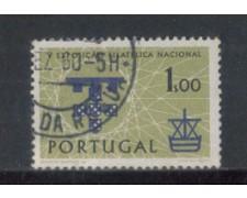 1960 - LOTTO/9776AU - PORTOGALLO - 1e. EXPO FILATELICA - USATO