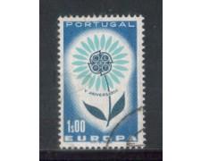 1964 - LOTTO/9798AU - PORTOGALLO - 1e. EUROPA - USATO