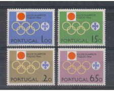 1964 - LOTTO/9800 - PORTOGALLO - OLIMPIADI TOKYO 4v.
